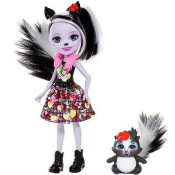 Mattel Enchantimals FXM72 Кукла с питомцем Скунси Седж